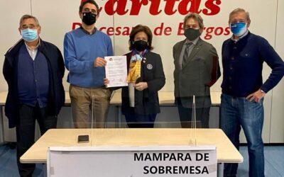 Los rotarios donan 20 mamparas protectoras a Cáritas de Burgos